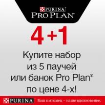 Pro Plan набор из 5 паучей(банок) по цене 4-х!