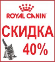 Скидка 40% на Royal Canin для котят!