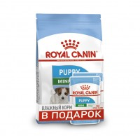 Mini Puppy (Junior) (Royal Canin для юниоров мел. пород /2-10 мес./, 2кг + 2 пауча) (84239)
