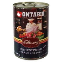 "Ontario Culinary Minestrone Chicken and Pork (Онтарио консервы для собак ""Минестроне с Курицей и Свининой"")"