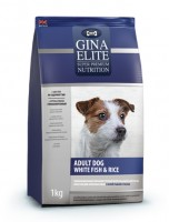 Джина Элит GINA DOG Elite White Fish&Riсe (Великобритания) гипоаллергенный корм для собак с белой рыбой и рисом