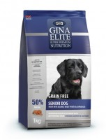 Джина Элит GINA  DOG Elite Grain Free Senior Dog Trout, Salmon, Potato, Asparagus (Великобритания)