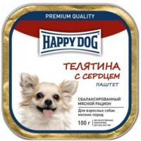 Happy Dog Mini (Хэппи Дог Мини телятина с сердцем, паштет)