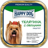 Happy Dog Mini (Хэппи Дог Мини телятина с овощами, паштет)